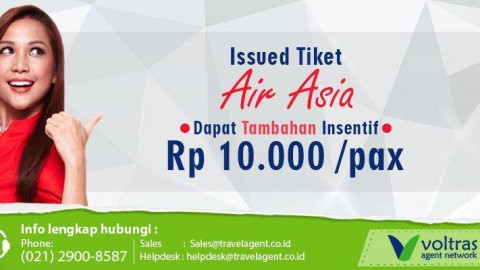Dapatkan Tambahan Insentif Air Asia