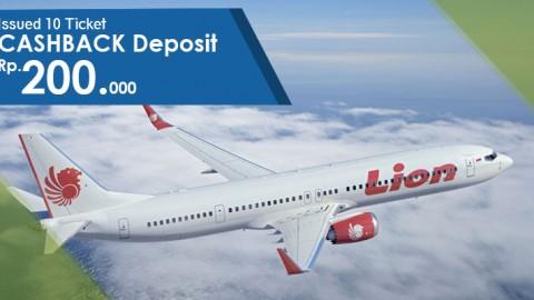 Menangkan Cashback 200RB Issued 10 Ticket Lion Air