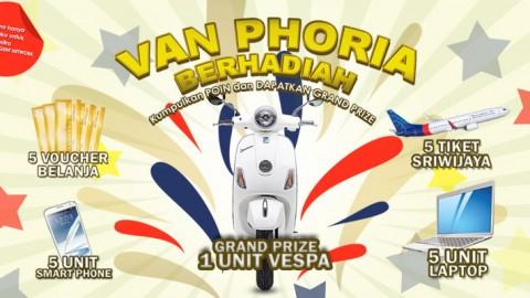 VAN PHORIA : Jual Beli Tiket Dapat Hadiah Grandprize Motor Vespa