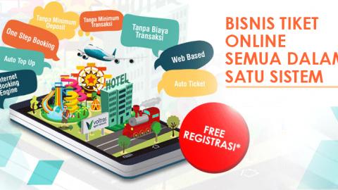 Promo Free Registrasi Bisnis Tiket online