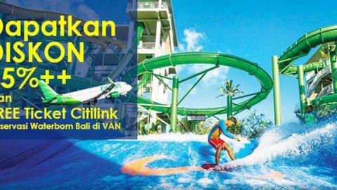 Promo Waterbom Bali Dapatkan Diskon 15%++ Dan Free Ticket Citilink