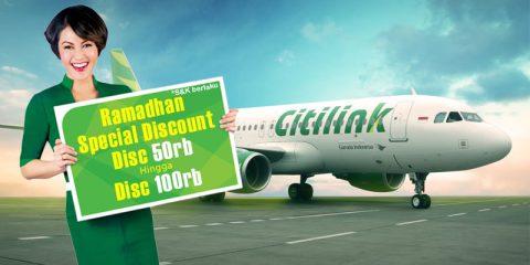 Ramadhan Special Discount 50rb hingga 100rb dari Citilink