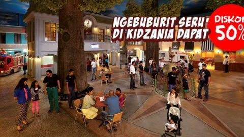 Ngebuburit seru di Kidzania Jakarta diskon 50%