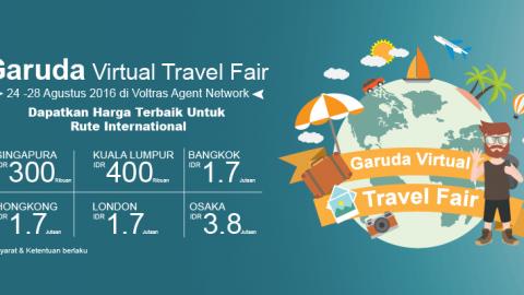 Promo Garuda Virtual Travel Fair 2016