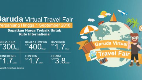 Promo Garuda Virtual Travel Fair 2016 Diperpanjang