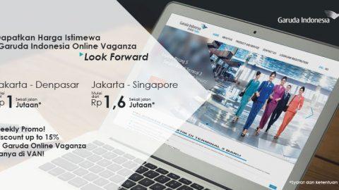 Discount Garuda Online Vaganza Up to 15% Hadir di VAN