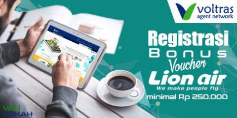 Registrasi VAN Bonus Voucher Lion Air